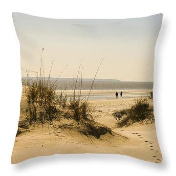 Through The Dunes Throw Pillow by Barbara Northrup