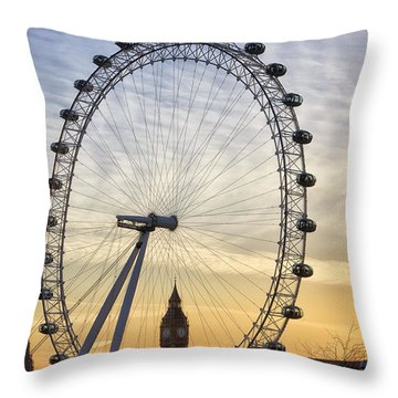 Through The Eye Throw Pillow by Shirley Mitchell