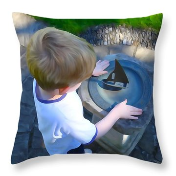 Through The Eyes Of A Child Throw Pillow