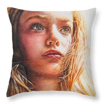 Through The Eyes Of A Child Throw Pillow