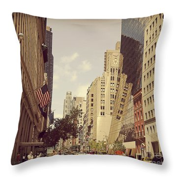Through The Faded Looking Glass Throw Pillow