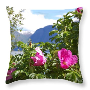 Through The Flowers Throw Pillow