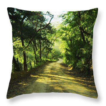 Through The Jungle Throw Pillow by Aged Pixel