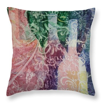 Through The Lace Throw Pillow by Roxanne Tobaison