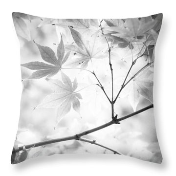 Through The Leaves Throw Pillow by Darryl Dalton