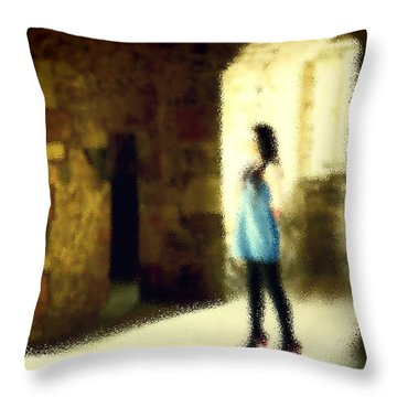 Through The Looking Glass Throw Pillow