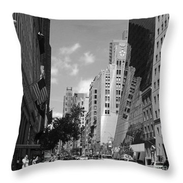 Throw Pillow featuring the photograph Through The Looking Glass In Black And White by Meghan at FireBonnet Art