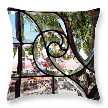 Through The Looking Glass Throw Pillow by Linda Shafer