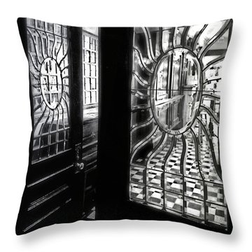 Through The Lookinglass And Onto The Checkerboard Throw Pillow