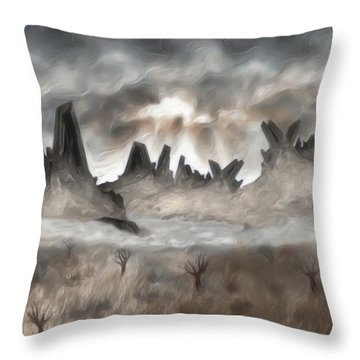 Through The Mist Throw Pillow by Jack Zulli