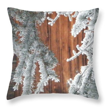 through the Pines Throw Pillow