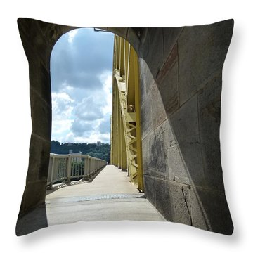 Through The Portal Throw Pillow by Jane Ford