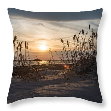 Through The Reeds Throw Pillow