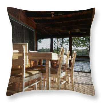 Through The Screen No 1 Throw Pillow by Lon Casler Bixby
