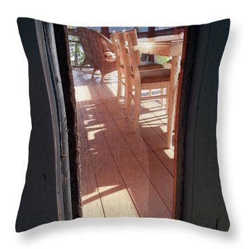 Through The Screen No 2 Throw Pillow by Lon Casler Bixby