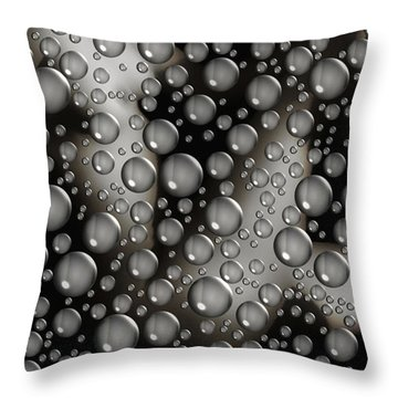 Through The Shower Door Throw Pillow by Donna Blackhall