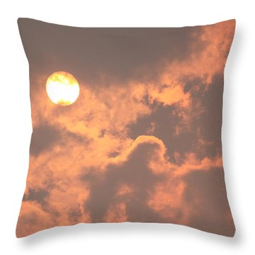 Through The Smoke Throw Pillow by Melanie Lankford Photography