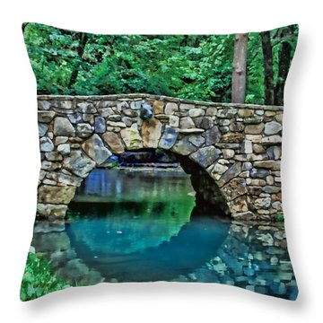 Through The Tunnel Throw Pillow by Elizabeth Winter