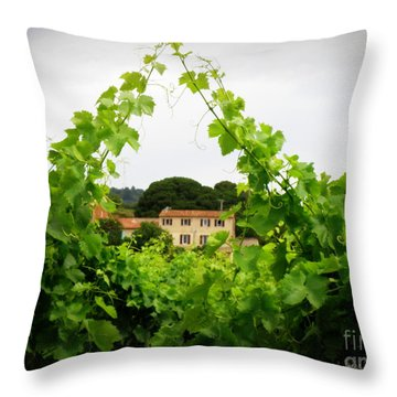 Through The Vines Throw Pillow by Lainie Wrightson