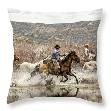 Throw Pillow featuring the photograph Through The Water I by Joan Davis