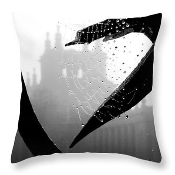 Through The Web Throw Pillow