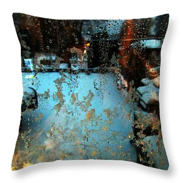 Through The Window Throw Pillow by Colette V Hera  Guggenheim