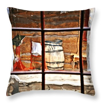 Through The Window Throw Pillow by Marty Koch