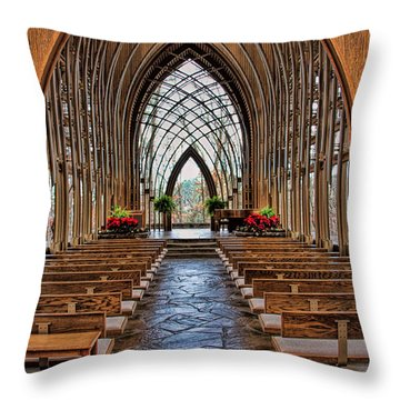 Through These Doors Throw Pillow by Elizabeth Winter