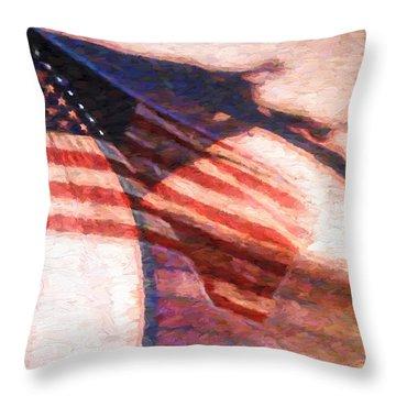 Through War And Peace Throw Pillow