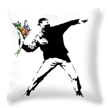 Throwing Love Throw Pillow by Munir Alawi