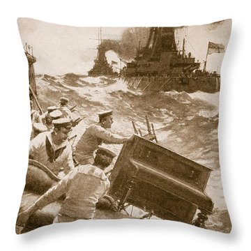 Throwing Overboard All Inflammable Luxuries When A Battleship Is Cleared For Action Throw Pillow