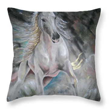 Thrusting Out Throw Pillow