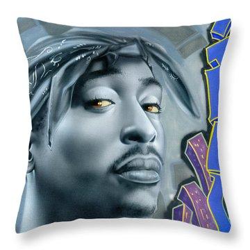 Thug Life Throw Pillow by Luis  Navarro