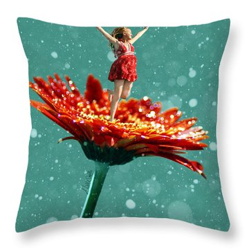 Thumbelina All Grown Up Throw Pillow