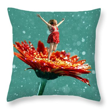 Thumbelina All Grown Up Throw Pillow by Nikki Marie Smith