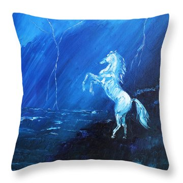 Thunder And Lightning Throw Pillow