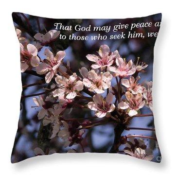 Throw Pillow featuring the photograph Thunder Cloud Prayer by Jean OKeeffe Macro Abundance Art