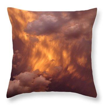 Thunder Clouds Throw Pillow by David Pantuso