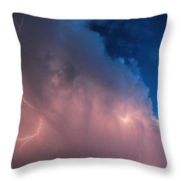 Thunder God Approaches Throw Pillow