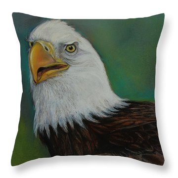 Thunder Throw Pillow by Jean Cormier