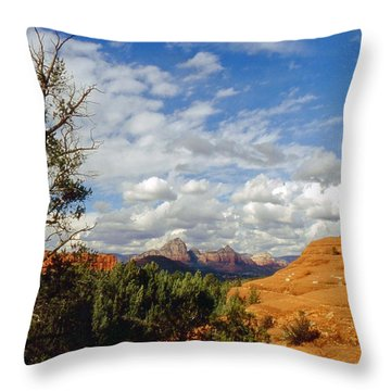 Thunder Mountain Throw Pillow by Gary Wonning