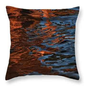 Thunder N Lightning Throw Pillow by Donna Blackhall