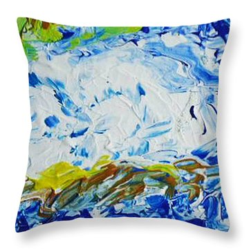 Thunder Of The Sea Throw Pillow
