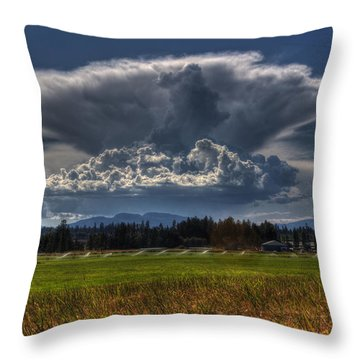Thunder Storm Throw Pillow