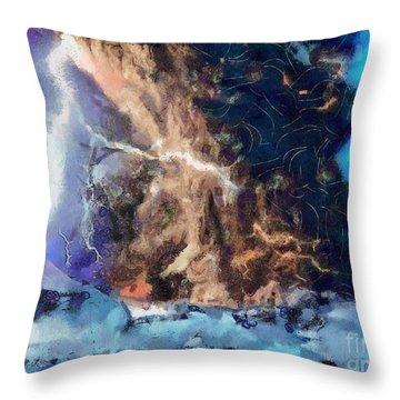 Thunder Struck Throw Pillow