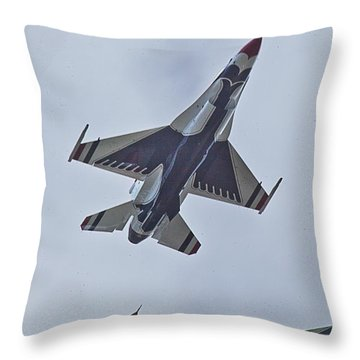 Go Go Thunderbirds Throw Pillow by Richard Engelbrecht
