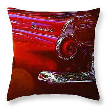 Thunderbird Throw Pillow by Nicola Fiscarelli