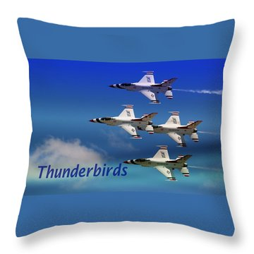 Throw Pillow featuring the photograph Thunderbirds by Bob Pardue
