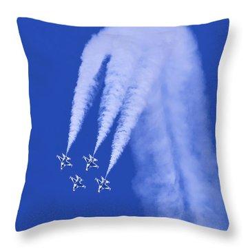 Thunderbirds Diamond Formation Downwards Throw Pillow