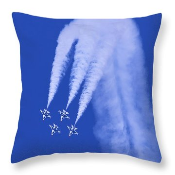 Thunderbirds Diamond Formation Downwards Throw Pillow